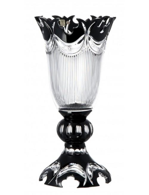 Diadém kristályváza, fekete színű, magassága 430 mm