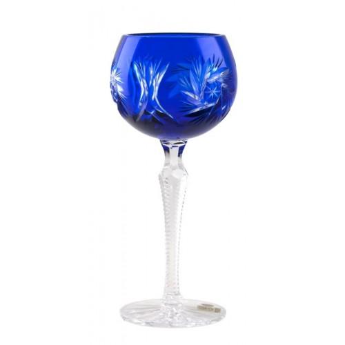 Pinwheel kristály borospohár, kék színű, űrmértéke 190 ml