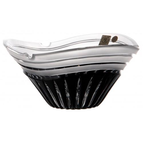 Dune kristály hamutál, fekete színű, átmérője 180 mm