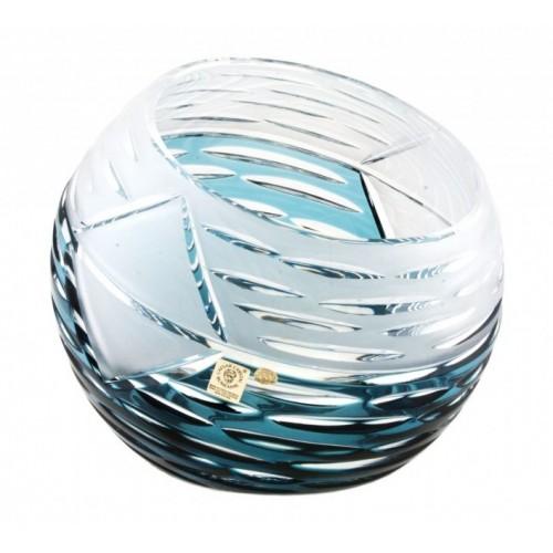 Mirage kristályváza, azúr színű, magassága 200 mm