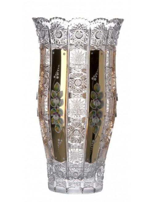 500K Arany III kristályváza, áttetsző kristály színű, magassága 305 mm