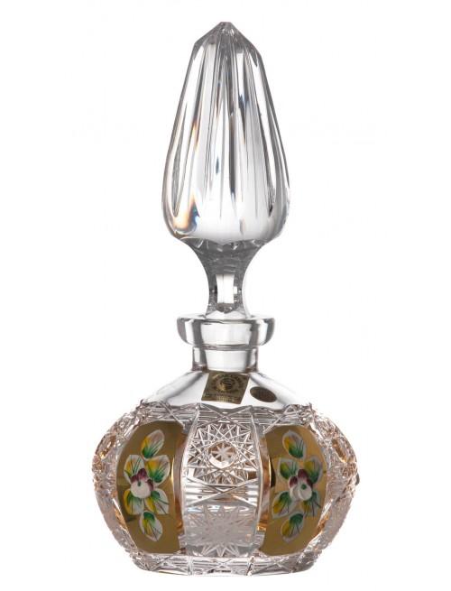 500K Arany kristály cseppentős parfümös üveg, áttetsző kristály színű, űrmértéke 200 ml