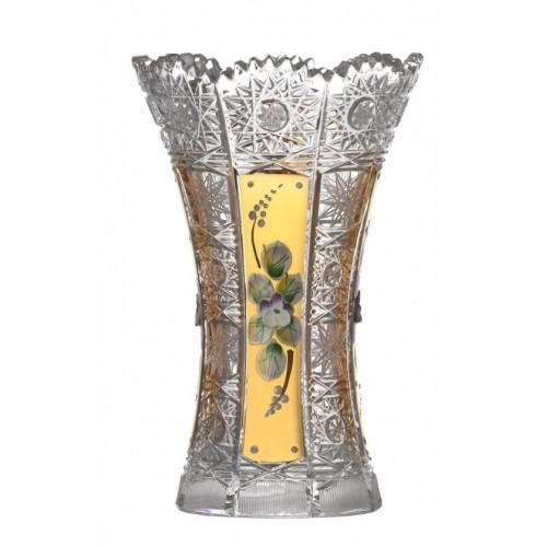 500K Arany I kristályváza, áttetsző kristály színű, magassága 180 mm