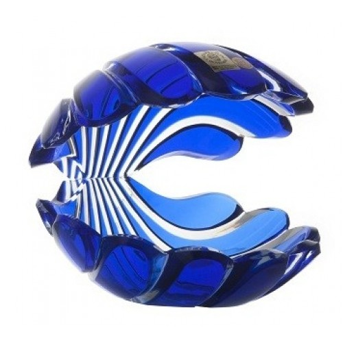 Kristálykagyló, kék színű, magassága 140 mm