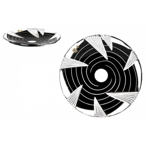 Whirl kristálytányér, fekete színű, átmérője 300 mm