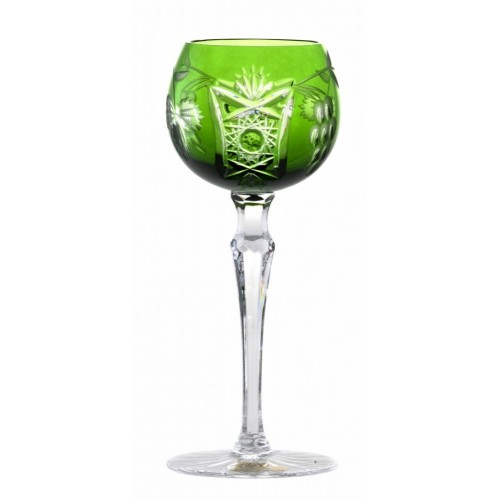 Nacht vinie kristály borospohár, zöld színű, űrmértéke 170 ml