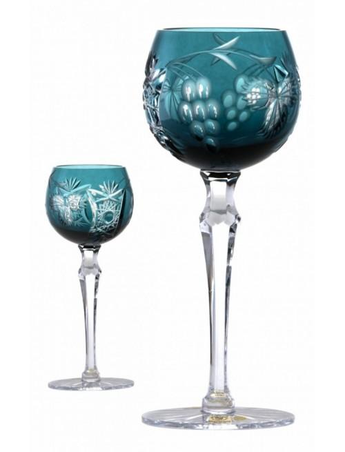 Nacht vinie kristály borospohár, azúr színű, űrmértéke 170 ml
