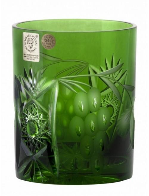 Nacht vinie kristálypohár, zöld színű, űrmértéke 320 ml