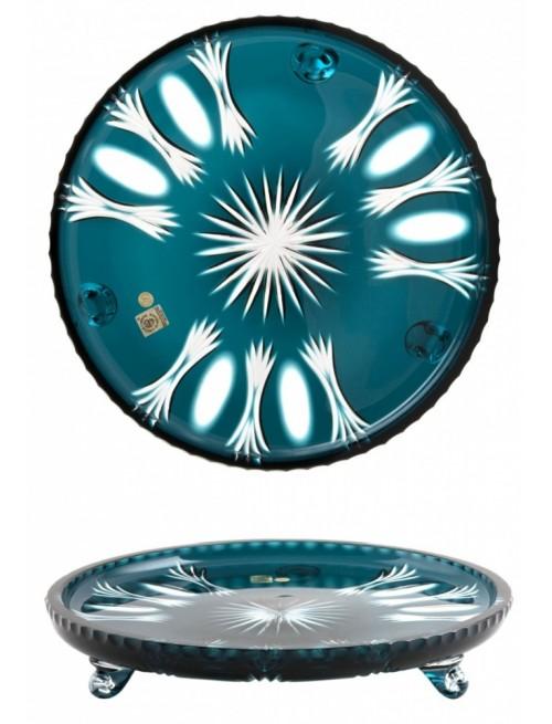 Dandelion kristálytányér, azúr színű, átmérője 305 mm