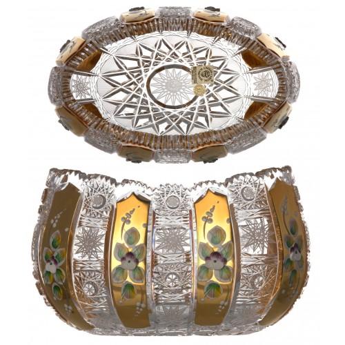 500K Arany kristálytál, áttetsző kristály színű, átmérője 205 mm