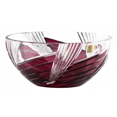 Whirl kristálytál, rubinvörös színű, átmérője 250 mm
