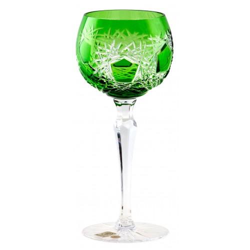 Frost kristály borospohár, zöld színű, űrmértéke 190 ml