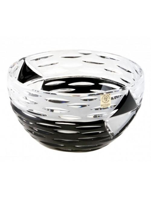Mirage kristálytál, fekete színű, átmérője 180 mm