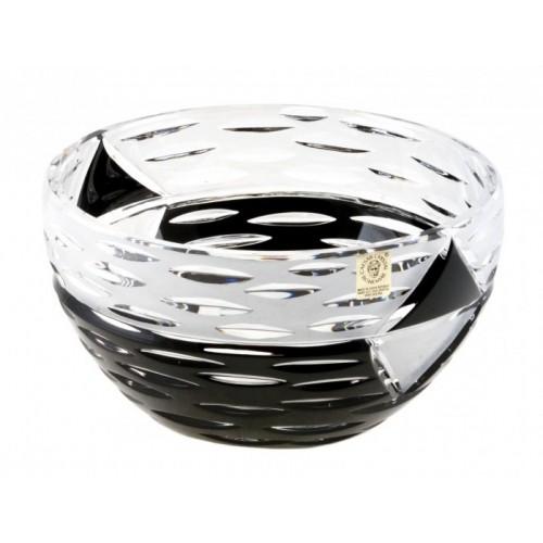 Mirage kristálytál, fekete színű, átmérője 230 mm