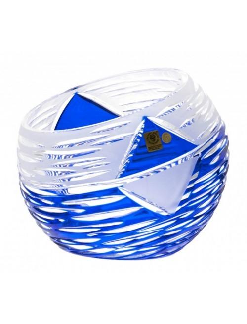 Mirage kristályváza, kék színű, magassága 200 mm