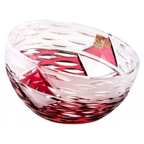 Mirage kristálytálka, rubinvörös színű, átmérője 130 mm