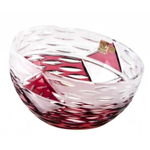 Mirage kristálytál, rubinvörös színű, átmérője 180 mm