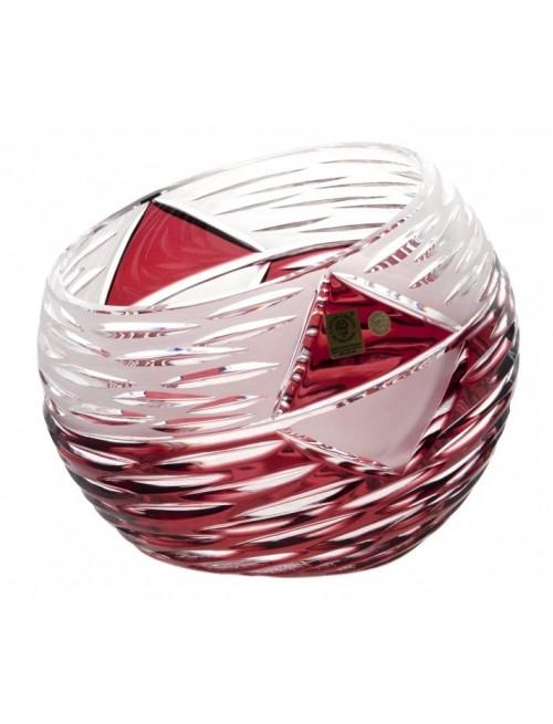Mirage kristályváza, rubinvörös színű, magassága 200 mm