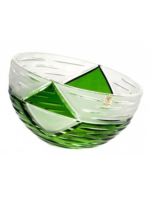 Mirage kristálytál, zöld színű, átmérője 180 mm