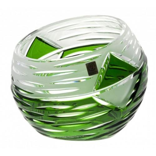 Mirage kristályváza, zöld színű, magassága 200 mm