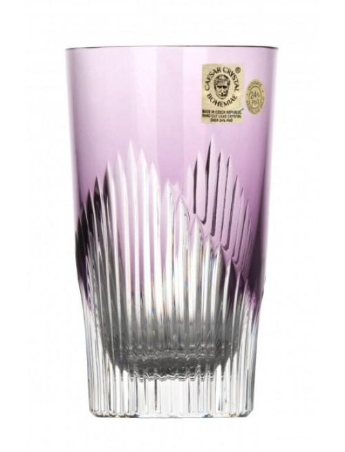 Mikádo kristálypohár, lila színű, űrmértéke 240 ml