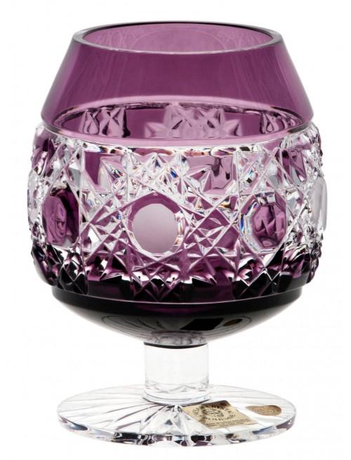 Brandy Flake kristálypohár, lila színű, űrmértéke 230 ml