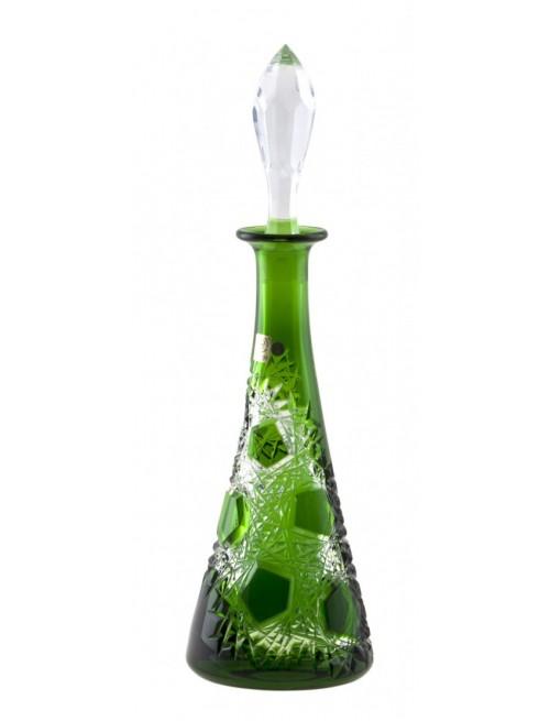 Frost kristály díszüveg, zöld színű, űrmértéke 750 ml