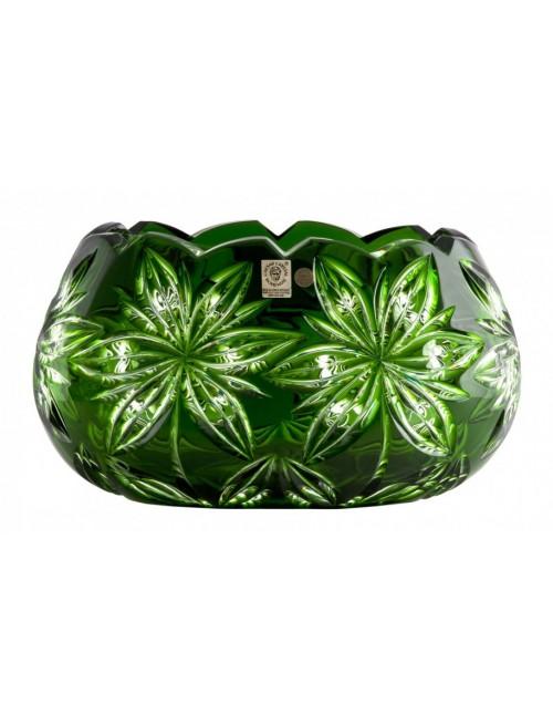 Belinda kristálytál, zöld színű, átmérője 255 mm