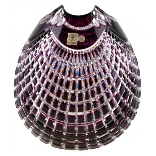 Quadrus kristályváza, lila színű, magassága 210 mm