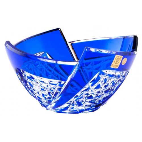Fan kristálytál, kék színű, átmérője 180 mm