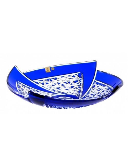 Fan kristálytál, kék színű, átmérője 350 mm