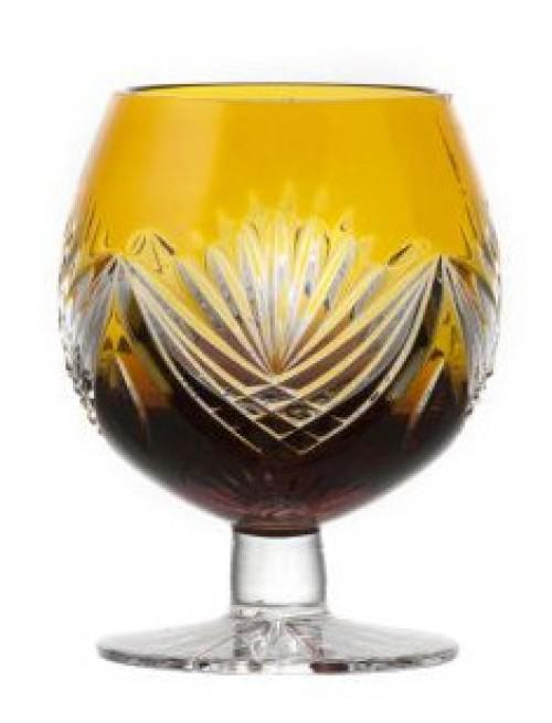 Brandy Janette kristálypohár, borostyán színű, űrmértéke 230 ml