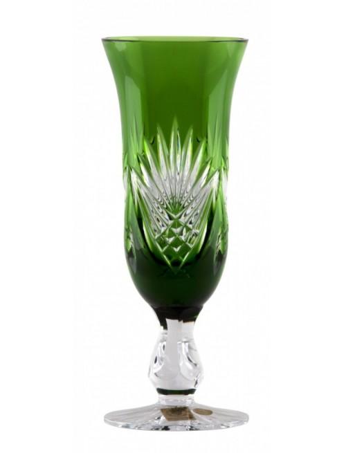 Janette kristály pezsgőspohár, zöld színű, űrmértéke 150 ml