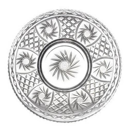 Pinwheel kristálytányér, áttetsző kristály színű, átmérője 440 mm
