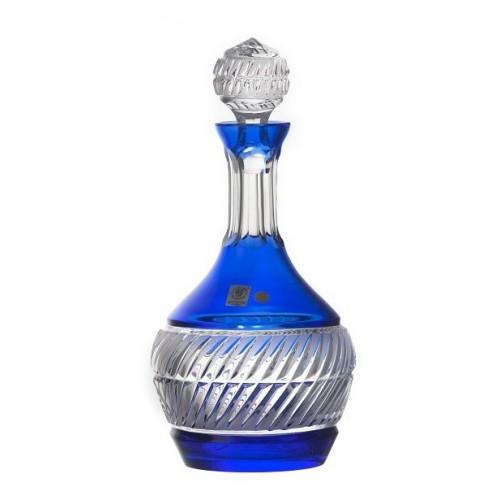 Nip kristály díszüveg, kék színű, űrmértéke 1000 ml