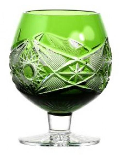Brandy Nordika kristálypohár, zöld színű, űrmértéke 230 ml