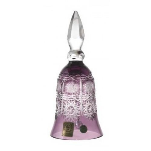Paula kristálycsengő, lila színű, magassága 155 mm