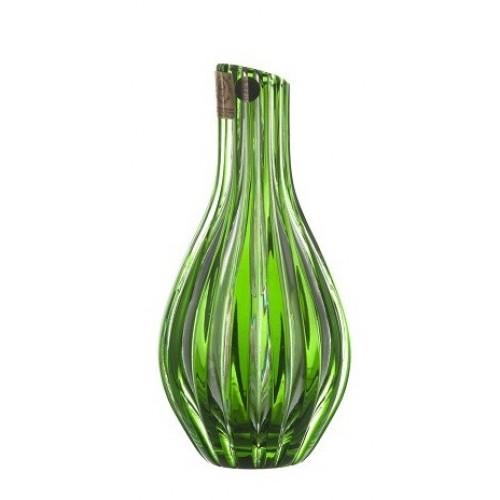 Sly kristályváza, zöld színű, magassága 150 mm