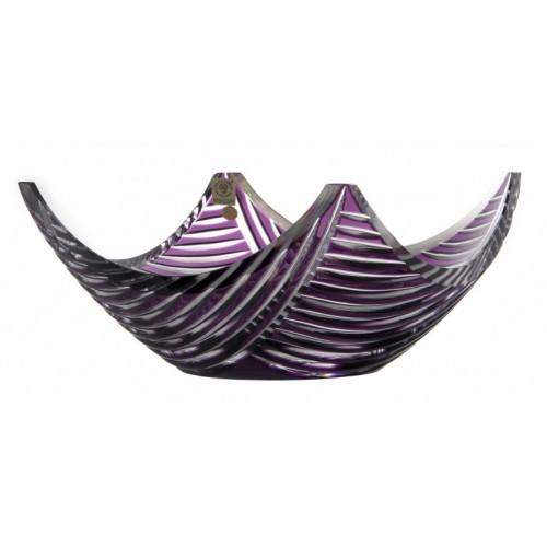 Linum kristálytál, lila színű, átmérője 280 mm