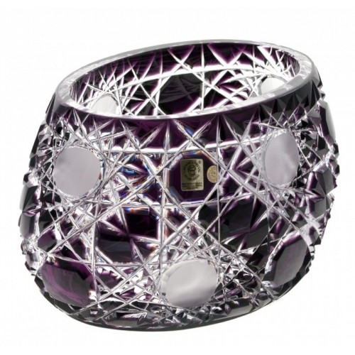 Flake kristálytál, lila színű, átmérője 255 mm