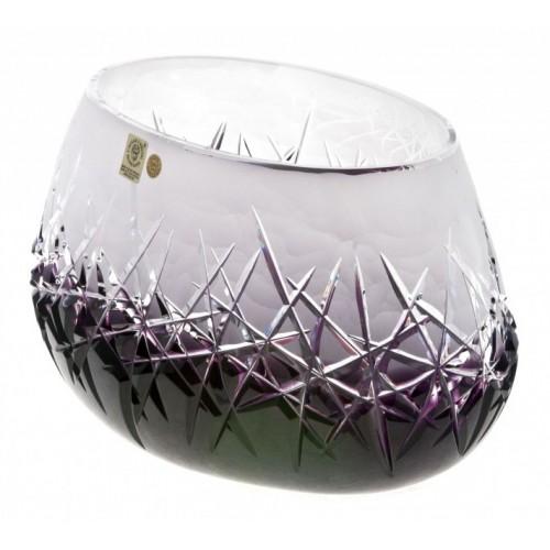 Hoarfrost kristálytál, lila színű, átmérője 255 mm
