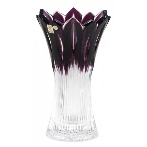 Flame kristályváza, lila színű, magassága 255 mm