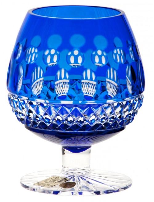 Brandy Tomy kristálypohár, kék színű, űrmértéke 230 ml