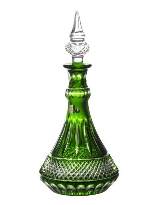 Tomy kristály díszüveg, zöld színű, űrmértéke 1300 ml