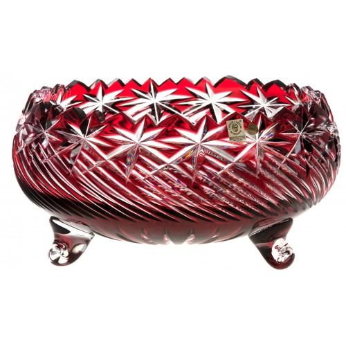 Sky kristálytál, rubinvörös színű, átmérője 280 mm