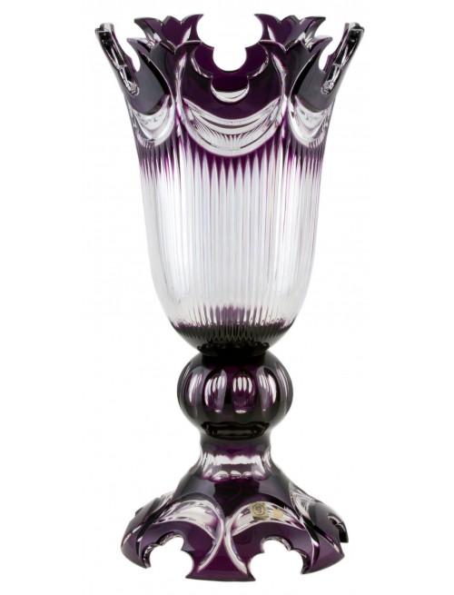 Diadem kristályváza, lila színű, magassága 430 mm