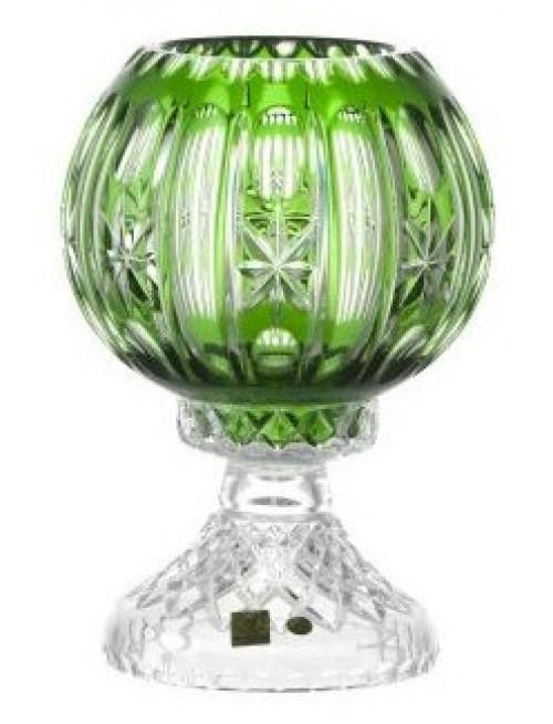Malaga kristálylámpa, zöld színű, magassága 225 mm