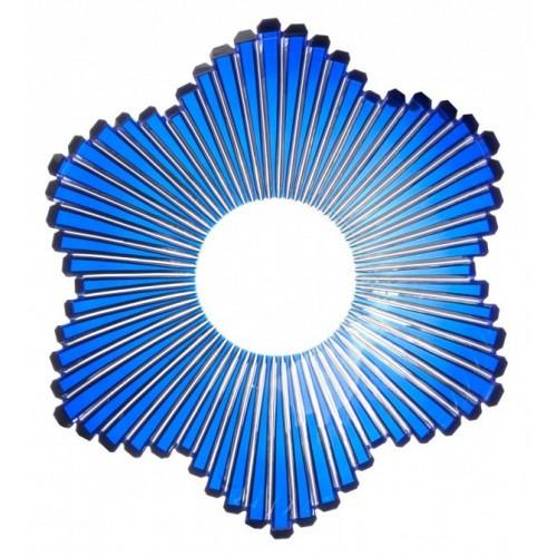 Mikádó kristálytál, kék színű, átmérője 335 mm