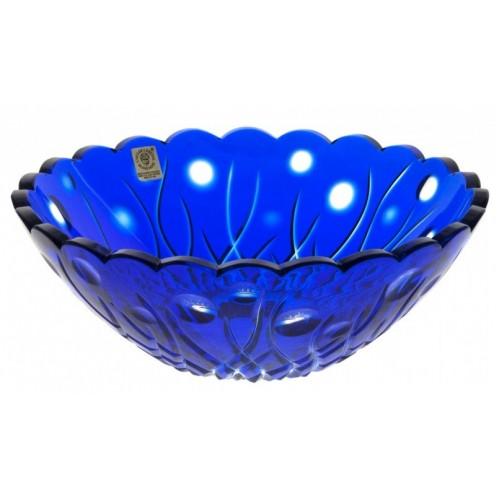 Heyday kristálytál, kék színű, átmérője 230 mm