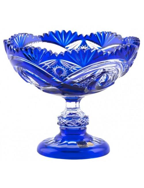 Alice kristály dísztál, kék színű, átmérője 200 mm
